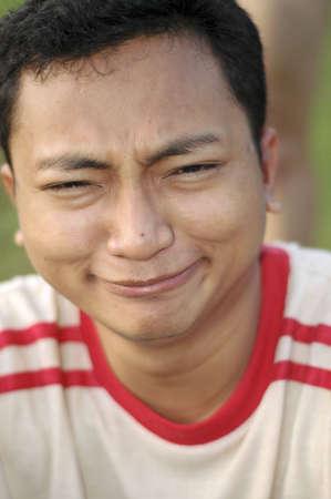 Asian Man weird funny Smile photo