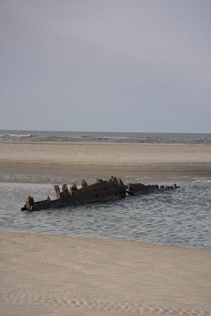 timberland: shipwreck on the beach