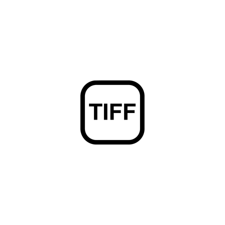 tiff: TIFF - format for storing raster graphics Illustration