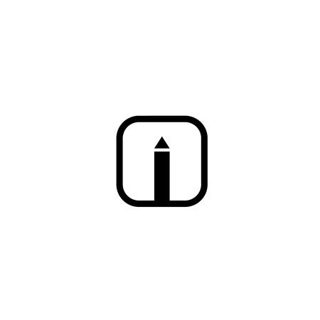 Pecnil tool icon, button for websites and mobil platform Illustration