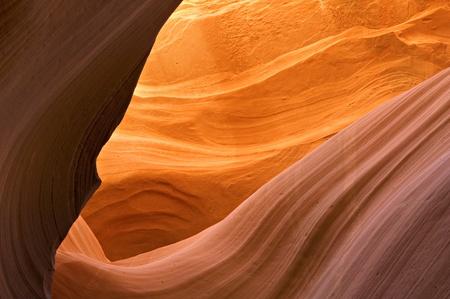 Antelope Canyon red sandstone wall abstract pattern. Page, Arizona. Lake Powell Navajo Tribal Park. Stock Photo - 11015983