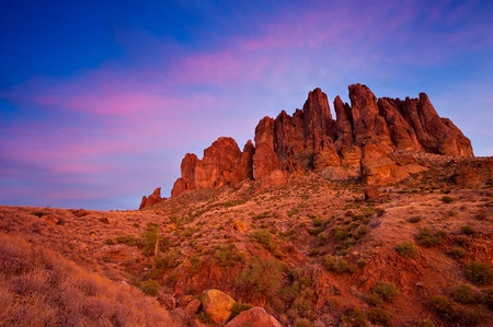View of the Superstition Mountains, Arizona, USA