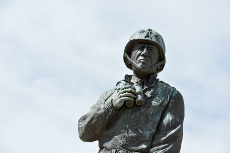 patton: Detail of a statue at the General Patton Museum, California.