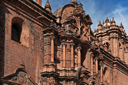 cuzco: CUSCO - AUGUST 8: The Cathedral of Santo Domingo, Cusco, Peru, on August 8, 2008. This Roman Catholic church is built on the ruins of the Inca temple, Kiswarkancha. Editorial