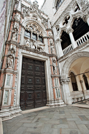 marco: Venice - portal of Doge palace - Porta Della Carta by Francesco Foscari