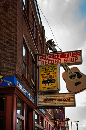 ernest: NASHVILLE - MARCH 23: Ernest Tubb Record Shop on Lower Broadway Area on March 23, 2014 in Nashville, Tennessee, USA.  Ernest Tubb Record Shop is a Nashville landmark. Editorial