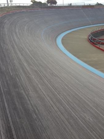 Velodrome curves Stock Photo