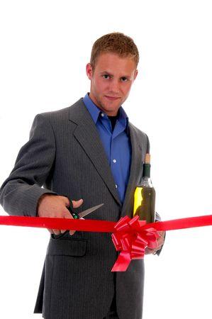 Ribbon cutting ceremony Stock Photo - 454459