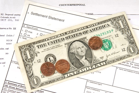 settled: A loan contract settled for pennies on the dollar Stock Photo