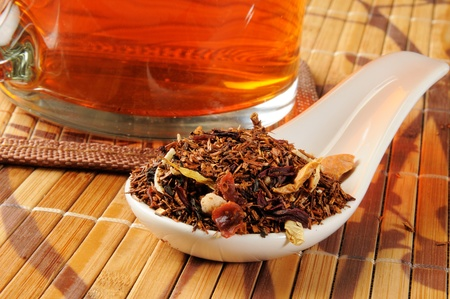A cup of honey spice rooibos tea photo