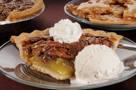 alamode: A slice of pecan pie ala mode, a holiday favorite