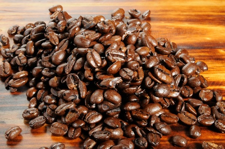Rich dark roasted organic coffee beans from the Pacific Rim Banco de Imagens