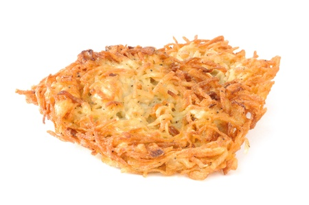 Latkas de pommes de terre ou des crêpes sur un fond blanc Banque d'images - 12268496