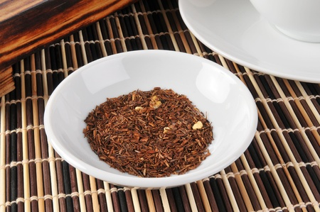 A sample dish of rooibos tea photo