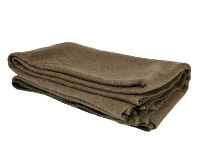 A standard issue wool military blanket Archivio Fotografico