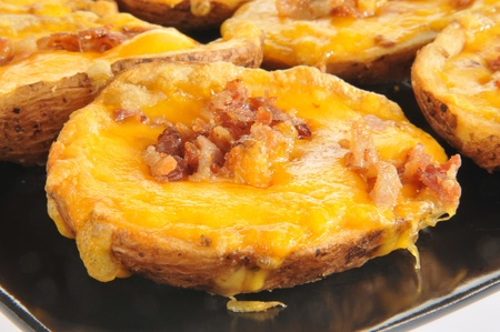 skins: Potato skins with bacon and cheese