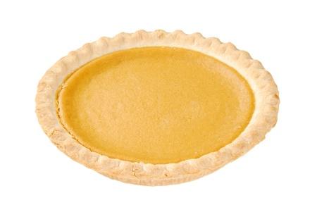 A sweet potato pie on a white background photo