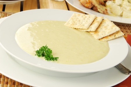 A bowl of cream of celery soup Stock Photo - 12890038