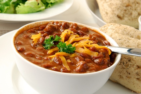 A bowl of chili con carne