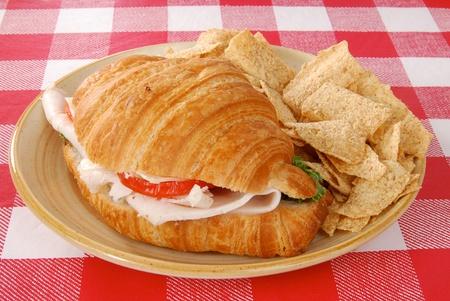멀티 그레인 칩 칠면조 샌드위치 스톡 콘텐츠