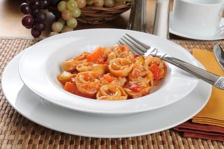 primavera: Gourmet tortellini primavera parmesan Stock Photo