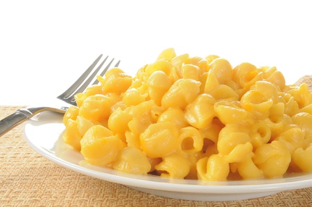 macaroni: Close up photo of a bowl of macaroni and cheese