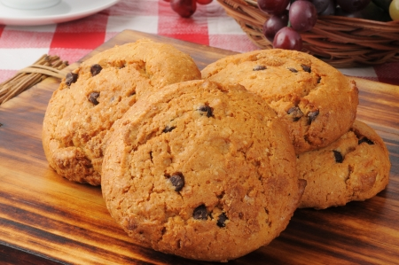 milk and cookies: Gourmet chocolate chip cookies with pumpkin
