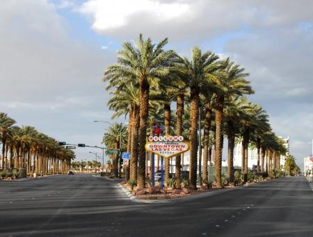 Entering downtown Las Vegas on Las Vegas Blvd