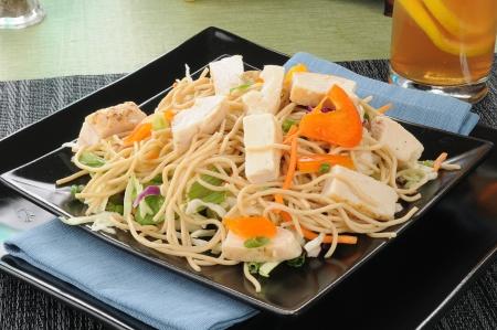 A gourmet thai chicken salad