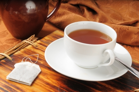 darjeeling: A cup of hot Darjeeling Tea