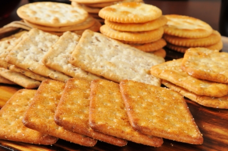 Assorted gourmet wheat snack crackers