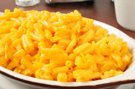 Closeup of macaroni and cheese in a casserole dish Stock fotó