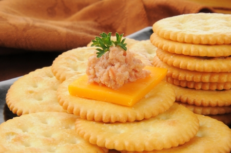 Cheddar cheese, deviled ham and crackers