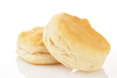Buttermilch-Kekse auf einem weißen Hintergrund Standard-Bild - 23769169