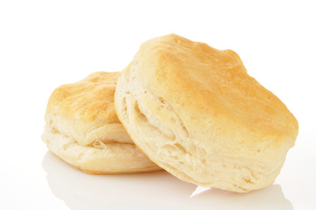 Buttermilk biscuits on a white background