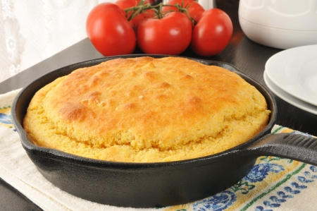 Fresh baked cornbread cooling near the window Stock Photo
