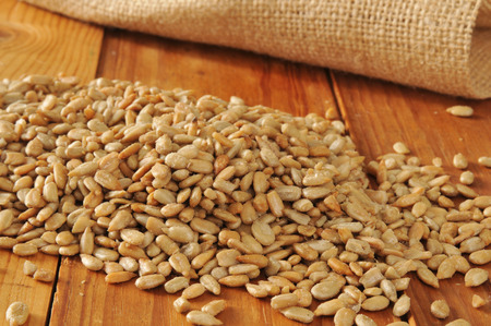 hulled: Hulled, roasted and salted organic sunflower seeds
