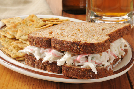 sprouted: A crab salad sandwich on healthy sprouted bread