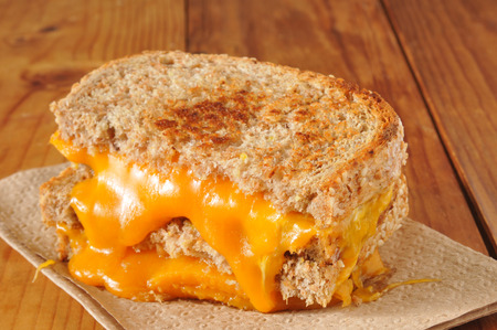 A grilled cheese sandwich on whole wheat bread Banco de Imagens