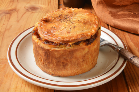 ale: A gourmet pot pie with steak, ale, vegetables and mushrooms