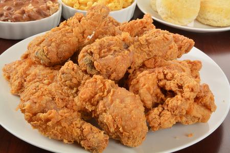 鶏肉のおかず炒めのプレート 写真素材