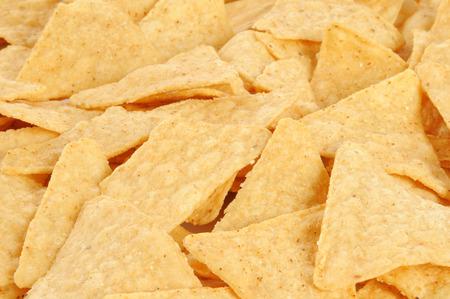 tortilla de maiz: Un fondo de chips de tortilla de maíz saladas