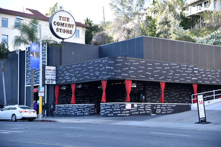 Names of famous comedians that have performed at the Comedy Store line its walls Editorial