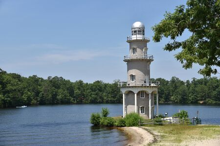 The old lighthouse at Lake Lenape in Mays Landing New Jersey