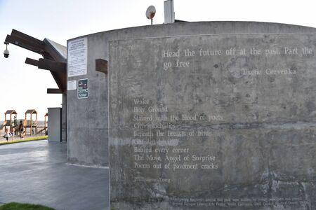 VENICE,  CA/USA - July 5, 2019: The Poetry Walls at Venice Beach California