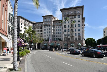 LOS ANGELES, CA/USA - July 8, 2019: The famous Beverly Wilshire Hotel seen from Rodeo Drive