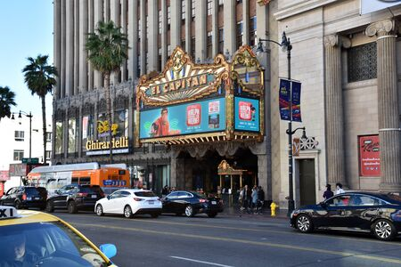 LOS ANGELES, CA/USA - NOVEMBER 30, 2018: The Iconic El Capitan Theatre on the Hollywood Walk of Fame