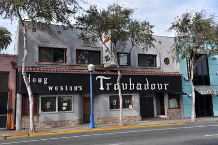 LOS ANGELES, CA/USA - JANUARY 10, 2019: The famous Troubadour Nightclub on Santa Monica Blvd played a big role in launching America's top bands