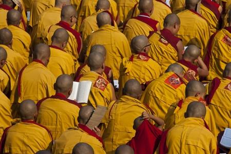 Tibetaans boeddhistische monniken in Bodhgaya India