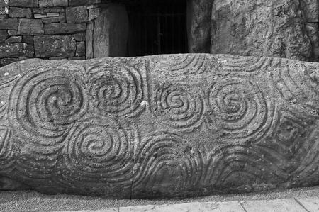 Newgrange, Ierland Stockfoto